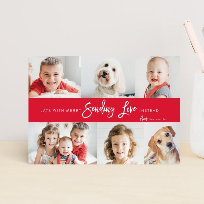 """""""joy love"""" - Funny Valentine's Day Postcards in Tomato by Heidi Lee Miller."""