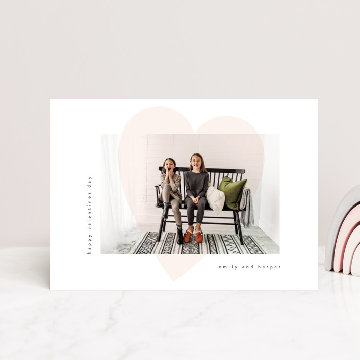 """heart overlay"" - Valentine's Day Postcards in Carnation by Angela Garrick."