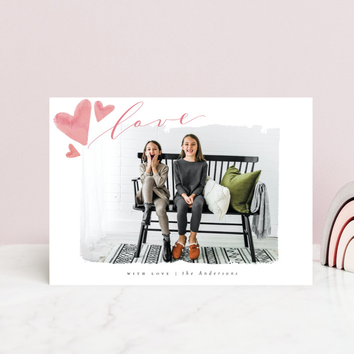 """""""Rolled With Love"""" - Valentine's Day Postcards in Blush by Vera Lim."""