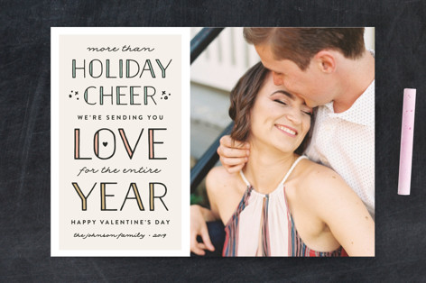 Love for the Year Valentine's Day Postcards