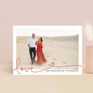 Heart swirl Valentine's Day Postcards