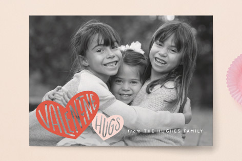 Hugs and Hearts Valentine's Day Postcards