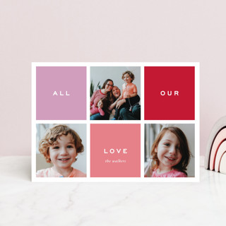 Preppy Blocks Valentine's Day Postcards