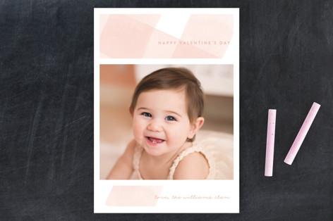 Gingham Wash Valentine's Day Postcards