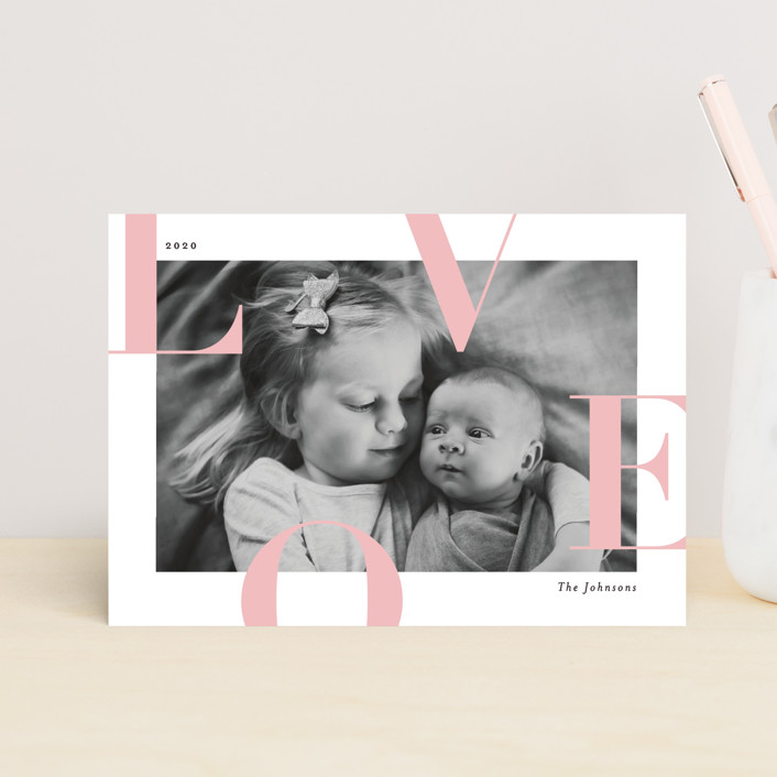 """Supreme Joy"" - Valentine's Day Postcards in Blush by Michelle Taylor."