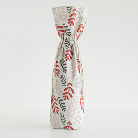 This is a colorful wine bag by Olivia Raufman called Cheerful Leaves.