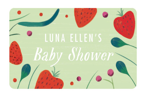 Berry Baby Baby Shower Stickers