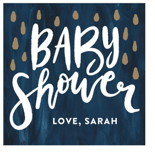 Simple Lettering Baby Shower Stickers