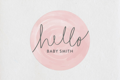 Hello Baby Baby Shower Stickers