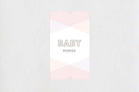 Color Blocked Baby Shower Stickers