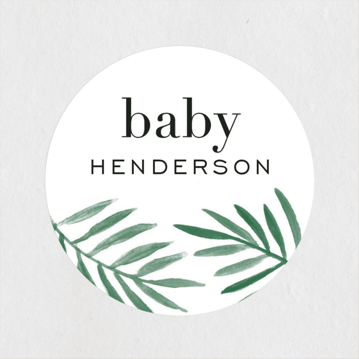 """""""jungle edge"""" - Baby Shower Stickers in Forest by Amy Kross."""