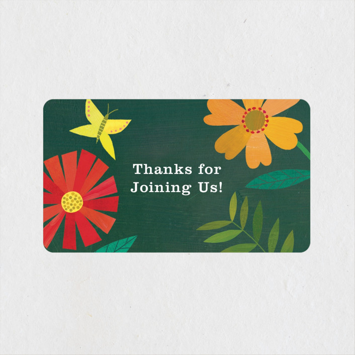 """Garden Border"" - Baby Shower Stickers in Forest by melanie mikecz."