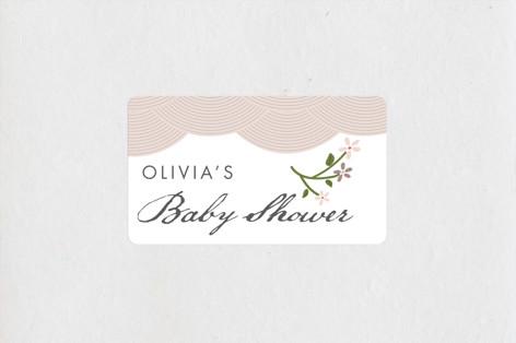 Japanese Garden Baby Shower Stickers
