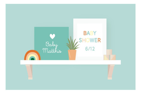 Nursery Shelves Baby Shower Stickers