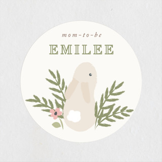 petit lapin Baby Shower Stickers