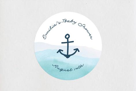 Little Sailor Baby Shower Stickers