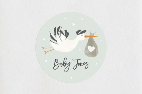 Stork Delivery Baby Shower Stickers