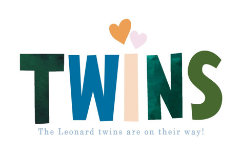 Twins Ahhh Baby Shower Stickers