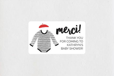 Oui Oui, Bebe Baby Shower Stickers