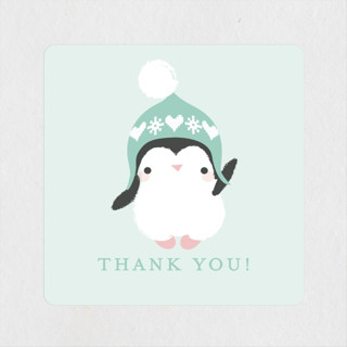 baby penguin Baby Shower Stickers