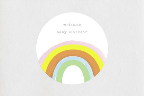Little Rainbow Baby Shower Stickers