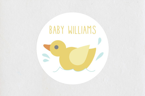 Waddle It Be Baby Shower Stickers
