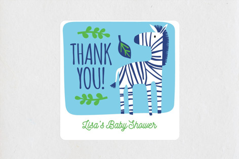 Bright Jungle Baby Shower Stickers