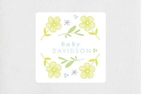 Busy Little Baby Baby Shower Stickers