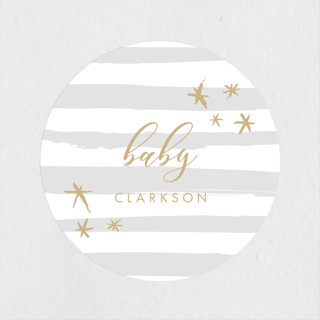 Ethereal Sky Baby Shower Stickers