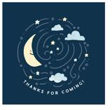Moon and stars by Jennifer Wick