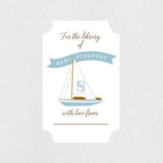 Little Library Baby Shower Stickers