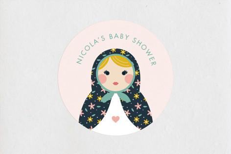 Nesting Baby Shower Stickers
