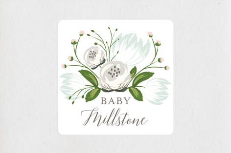 Kraft Bouquet Baby Shower Stickers