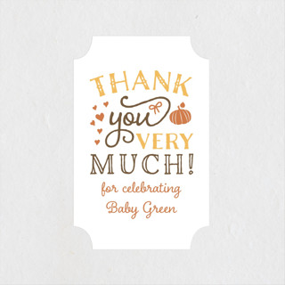 Pumpkin Spice Baby Shower Stickers