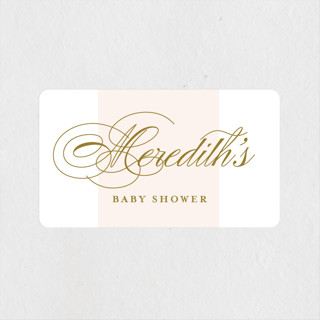 Classical Baby Shower Stickers