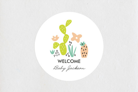 Agave Bebe Baby Shower Stickers