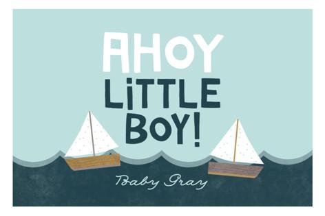 Ahoy Little Boy Baby Shower Stickers