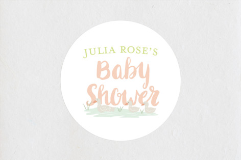 Quack Twice Baby Shower Stickers