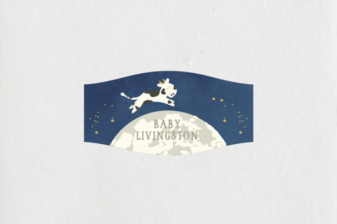 Over the Moon Baby Shower Stickers