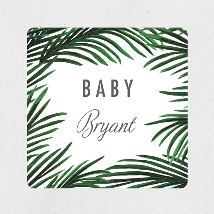 """Tropical Love"" - Baby Shower Stickers in Sand by Elly."