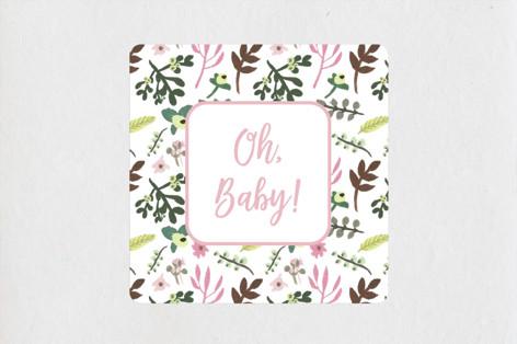 Spring Wreath Baby Shower Stickers