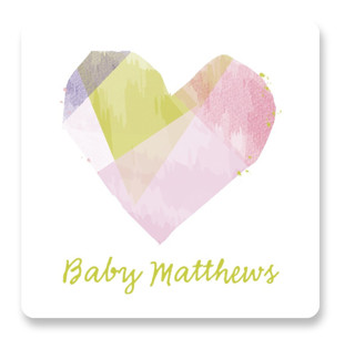crafted heart Baby Shower Stickers