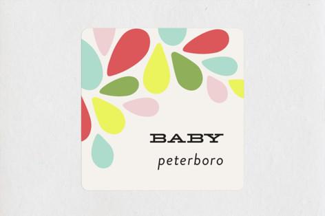 mod Baby Shower Stickers