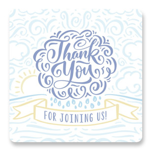 Raining Love Baby Shower Stickers