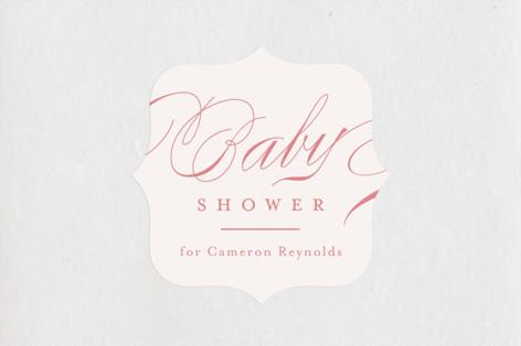 Classique Baby Shower Stickers