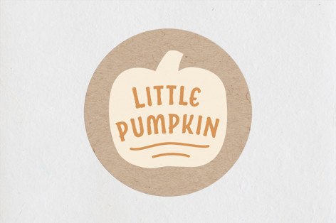 Little Pumpkin Baby Shower Stickers