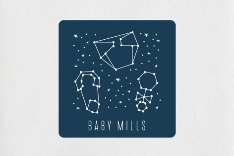 Celestial Baby Shower Stickers