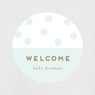 Baby Brunch Baby Shower Stickers