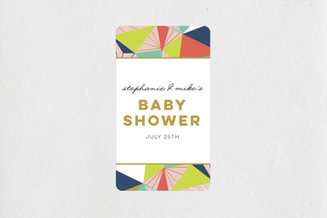 Geometric Frame Baby Shower Stickers