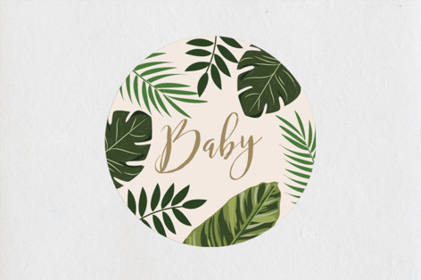 Tropical Shower Baby Shower Stickers